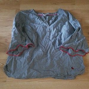 Talbots the Oprah Collection gingham top 2x